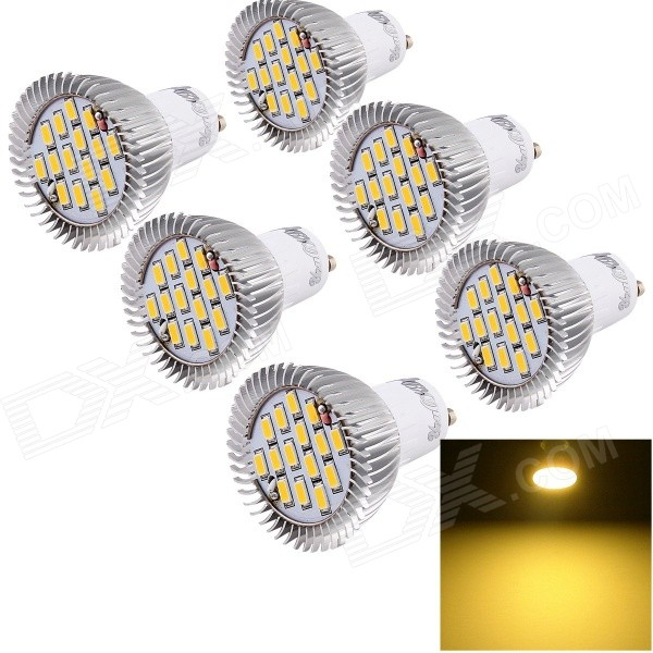 YouOKLight GU10 7.5W LED Spotlight Bulb Warm White 720lm 15-SMD (6PCS)GU10<br>Form  ColorSilverColor BINWarm WhiteModelYK1616MaterialAluminumQuantity1 DX.PCM.Model.AttributeModel.UnitPowerOthers,7.5WRated VoltageAC 85-265 DX.PCM.Model.AttributeModel.UnitConnector TypeGU10Theoretical Lumens720 DX.PCM.Model.AttributeModel.UnitActual Lumens700 DX.PCM.Model.AttributeModel.UnitChip BrandOthers,N/AEmitter TypeOthers,5630Total Emitters15Color Temperature12000K,Others,3500KDimmableNoBeam Angle270 DX.PCM.Model.AttributeModel.UnitPacking List6 x Spotlights<br>