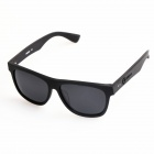 OREKA Hand-Polished Polarized UV400 Protective Retro Sunglasses - Black