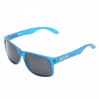 Men's Fashionable Cool UV400 Protection TR90 Frame Polarized Sunglasses - Blue + Grey