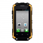 "J5 Waterproof Android 4.2 Dual Core MT6572 WCDMA Rugged Phone w/ 2.4"", 3.0MP, Wi-Fi - Black + Yellow"