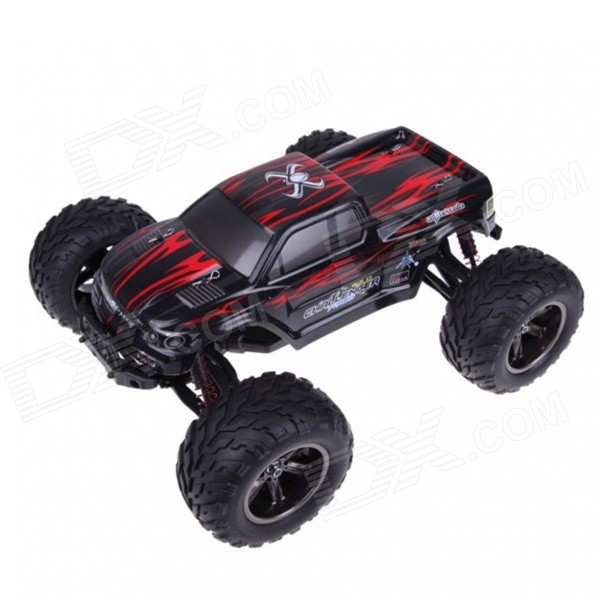 1:12 40KMH 2.4GHz High Speed RC Monster Truck Toy - Red + BlackR/C Cars<br>Form  ColorRed + BlackModel9115MaterialPlasticQuantity1 DX.PCM.Model.AttributeModel.UnitShade Of ColorRedShape ModelOffroad CarScaleOthers,1:12Channels Quanlity4 DX.PCM.Model.AttributeModel.UnitFunctionUp,Down,Left,RightRemote control frequency2.4GHzRemote Control Range80 DX.PCM.Model.AttributeModel.UnitSuitable Age 5-7 years,8-11 years,12-15 years,Grown upsCameraNoCamera PixelNoLamp NoBattery Capacity800 DX.PCM.Model.AttributeModel.UnitBattery TypeLi-ion batteryCharging Time1.5 DX.PCM.Model.AttributeModel.UnitWorking Time15~20 DX.PCM.Model.AttributeModel.UnitRemote Controller Battery TypeAARemote Controller Battery Number2Other Featureshttp://vodcdn.video.taobao.com/player/ugc/tb_ugc_pieces_core_player_loader.swf?version=1.0.20150330&amp;vid=22934313&amp;uid=1836404939&amp;p=1&amp;t=1&amp;rid=&amp;random=6666Packing List1 x 1:12 RC monster truck1 x Remote control1 x Battery1 x EU plug charger (70cm)1 x English manual<br>