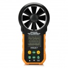 "HYELEC MS6252B 1.65"" Auto Digital Wind Speed & Flow Meter Anemometer - Black + Yellow (1 x 6F22)"