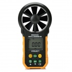 "HYELEC MS6252A 1.65"" Auto Analog + Digital Wind Speed Meter Anemometer - Black + Yellow (1 x 6F22)"