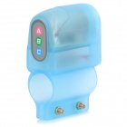S-what 105dB Bike Bicycle Anti-Theft Safety Alarm - Translucent Blue (1 x 6F22)