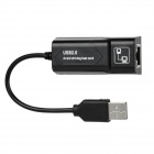 USB 2.0 10 / 100 / 1000 Mbps Ethernet Network Card adaptador - preto