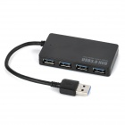 BYL-3013 USB 3.0 Super Speed 4-Port USB HUB for Desktop Computer / Laptop - Black
