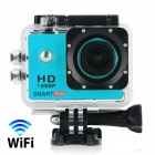 "Smartron Wi-Fi 2.0"" 1080P Waterproof Action Sports Camera - Sky Blue"