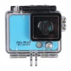 "X5 Wi-Fi FHD 2K Waterproof 12MP Sports Camera DV w/ 2"" LCD / 170 Degree Wide Lens - Blue (US Plug)"
