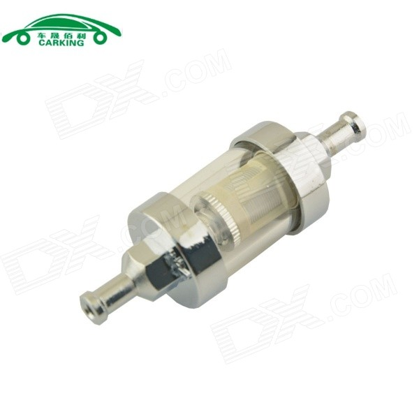 "CARKING 1/4"" Fuel Filter for Harley Yamaha Suzuki Kawasaki - Sliver"