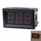"10A Red LED Four Line 3-Digit 0.56"" Display Panel Digital Ammeter - Black (DC 4.5~30V)"