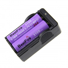 BestFire 18650 Battery Charger w/ 2*3.7V 3100mAh 18650 Batteries