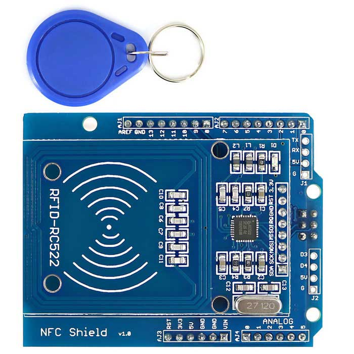 NFC Shield RFID-RC522 RF IC Card Sensor Module + S50 RFID Smart Card for Arduino UNO / Mega2560