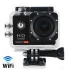 "Smartron Wi-Fi 2.0"" TFT 1080P Waterproof Action Sports Camera - Black"