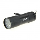 UltraFire 9-LED Single Mode White Light LED Flashlight Torch - Black ( 3 x AAA )