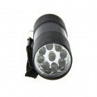 Ultrafire 9-LED Single Mode White Light LED Flashlight Torch - Black