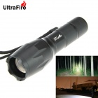 UltraFire 500lm 5-Mode White Zooming Flashlight Set - Black (1 x 18650 / 3 x AAA)
