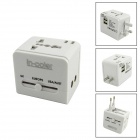 IN-Farben 5-in-1 Universal Travel Adapter mit USB / US / EU / UK / AU - Weiß