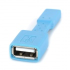 Micro USB M to USB F OTG Charging Data Adapter for Cellphone - Blue