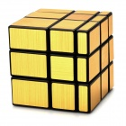 Irregular Mirror 3 x 3 x 3 Magic IQ Cube - Black + Gold