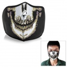 Skull Pattern Windproof Face Mask for Riding / Cycling - Black