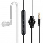 Intelligent Switching Multifunctional Anti-Radiation In-Ear Air Duct Earphone w/ Mic. - Black