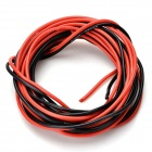 DIY 22AWG Super Soft Silicone Wires for R/C Airplane - Black + Red (2 PCS / 200cm)