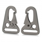 Outdoor Mountaineering Parrot Mouth Shaped Keychain Carabiner Clasp Lock - Black (2PCS)