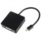 Mini DisplayPort Male to HDMI + DVI (24+5) + VGA Female Converter Adapter - Black