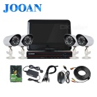 "JOOAN TC-404AHD-4AP5 4CH CCTV Surveillance System 10"" LCD+ 4 AHD Camera+ DVR Kit With 500GB HDD"