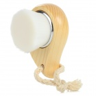 Comma Shaped Fiber Wool + Wood Face Cleaning Brush - Beige