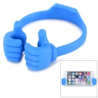 Creative Thumb Design Phone Desktop Holder Stand Mount for IPHONE & IPAD & More - Blue
