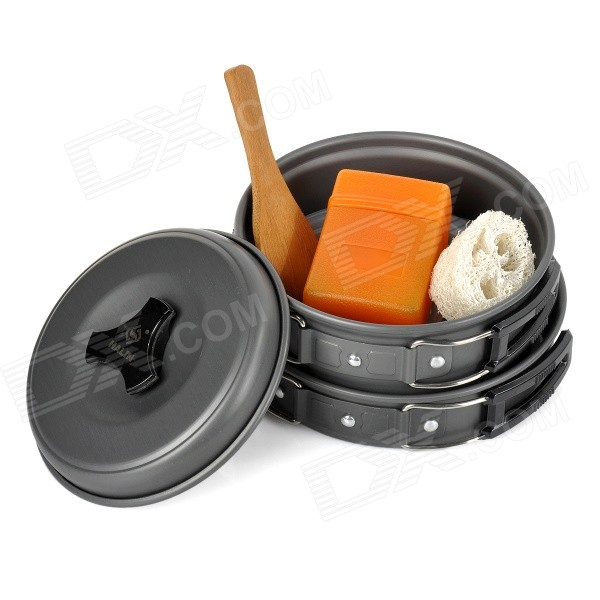 HALIN DS-200 Outdoor Camping Cooking Utensils - Grey Black - Free Shipping - DealExtreme