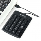 USB Wired 19-Key Numeric Keypad - Black