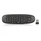 2.4G Wireless Air Mouse Keyboard w/ Gyroscope - Black