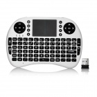 Mini 2.4GHz Wireless Full-Key Keyboard w/ Touch Pad - White + Black