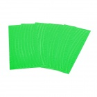NUCKILY Bicycle Wheel Reflective Stickers - Green (5PCS)