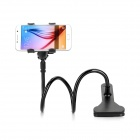 "Desktop Clip-on Flexible Cellphone Holder for 3.5""~6.5"" Phones - Black"