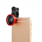 S-What Universal Selfie 0.4X Wide Angle Clip-on Lens w/ Cover for IPHONE / Samsung - Red