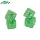 CARKING CS156 Car Vehicle Cube Shape Dice Style Tire Valve Caps - Green (4 PCS)