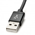 USB M to Micro USB M Data Charging Mesh Cable for Samsung - Black (1m)