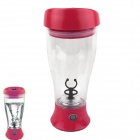 Vacuum Leak Proof Coffee Chocolate Milk Mixed Fruit Juice Automatic Stirring Cup - Red (2 x AA)
