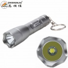 ZHISHUNJIA 1304-T6 XM-L LED 700lm 3-Mode Cool White Light Flashlight w/ Keychain - Grey (1 x 14500)