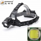 ZHISHUNJIA K12T6 900lm 3-Mode White Light Zooming Headlamp Headlight - Black (2 x 18650)