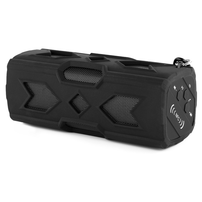 A6 Outdoor Bluetooth NFC Mini Speaker w/ Power Bank for IPHONE - Black