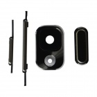 Replacement Power Switch + Volume / Home Button + Lens Cover for Samsung Galaxy Note 3 N900 - Black