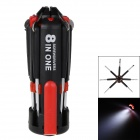 8-in-1 Multi-functional Portable Screwdrivers Tools Set w/ 6-LED Flashlight Torch - Black + Red