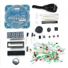 DIY LED Electronic Clock Kit - Blue + Multi-Colored