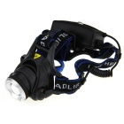 UltraFire 900lm XM-L T6 1-LED 3-Mode White Light Zooming Headlamp - Black + Blue (2 x 18650)