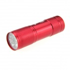 UltraFire 80lm 9-LED Single Mode White Light LED Flashlight Torch - Red (3 x AAA)