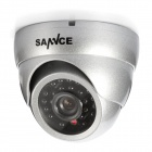 SANNCE C8048VDS 800TVL 24LED IR-Cut Filter 85ft Night Vision Waterproof Analog Dome CCTV Cameras Kit